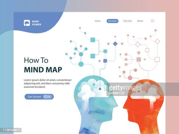 mind map web template - memories stock illustrations