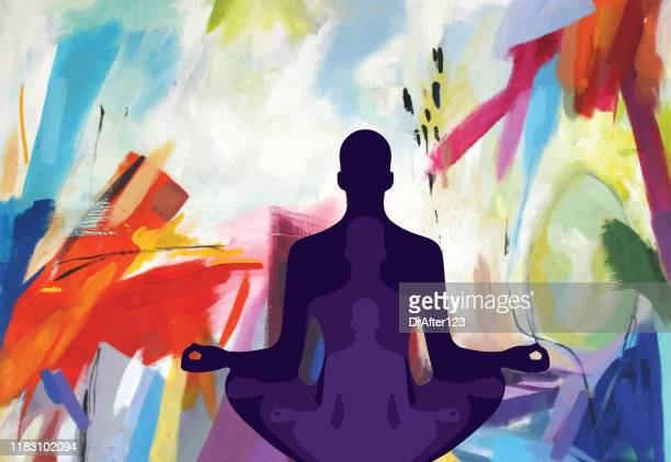 mindfulness - aura stock illustrations