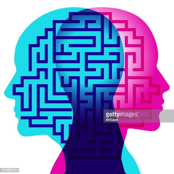 minds maze - wisdom stock illustrations, clip art, cartoons, & icons