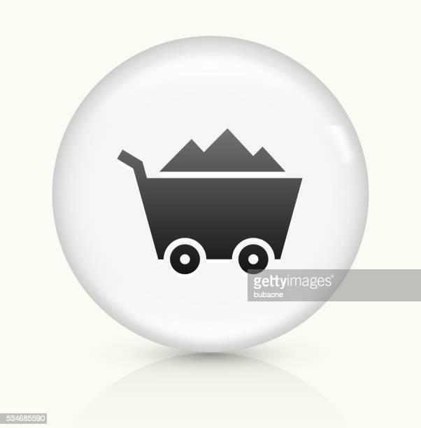 Mine Cart icon on white round vector button