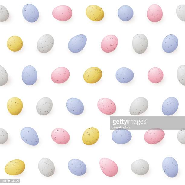 ilustraciones, imágenes clip art, dibujos animados e iconos de stock de mini huevos de pascua-patrón continuo - huevo etapa de animal