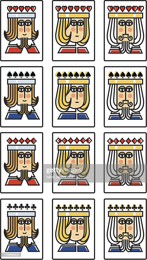 Mini suit of playing cards : stock illustration