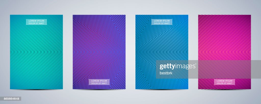 Minimal abstract covers design. Poster with graphics background. Vector illustration