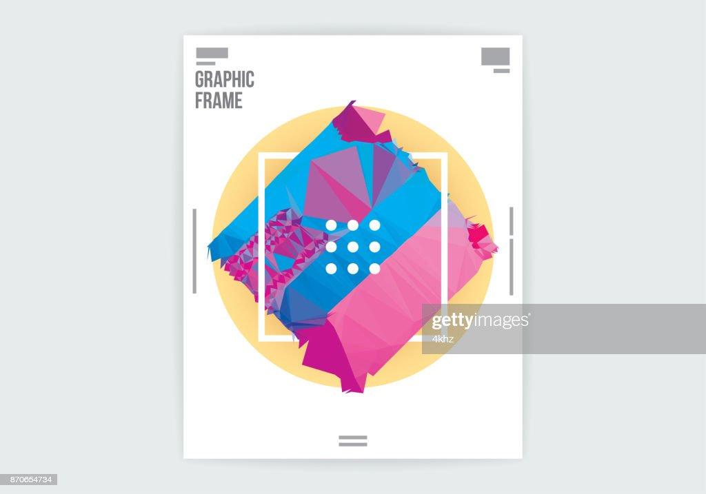 ミニマルな抽象的なグラフィック デザイン ポスター レイアウト