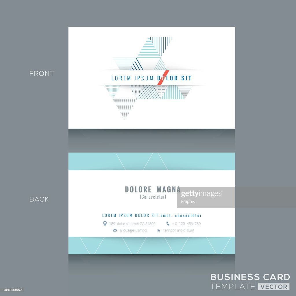 Minimal clean triangle design business card Template