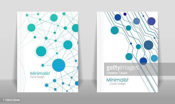 ilustrações, clipart, desenhos animados e ícones de projetos mínimos da tampa - folheto documento