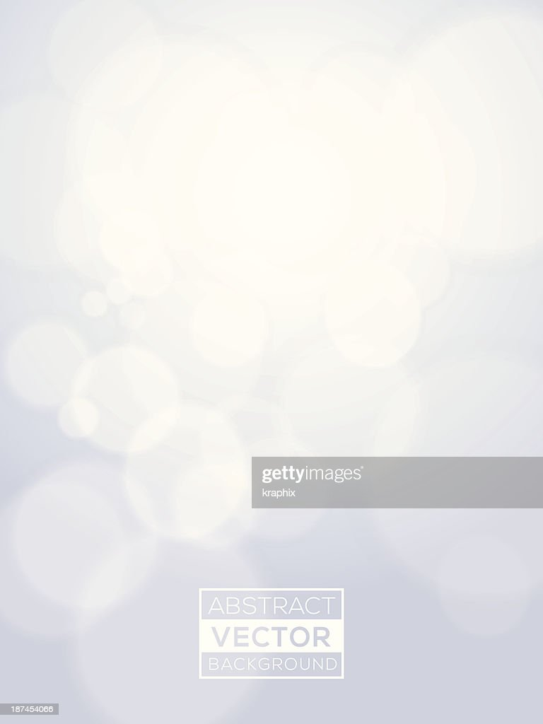 Minimal futuristic abstract Vector Bright Bokeh Background