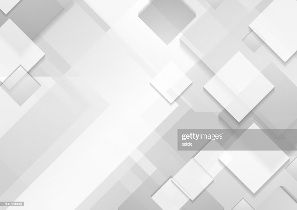 Minimal futuristic corporate tech grey white background