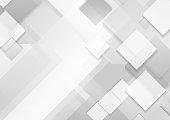 Minimal futuristic corporate tech grey white background