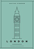 Minimal London City Poster Design
