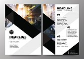 Minimal Poster Brochure Flyer design Layout background vector template A4