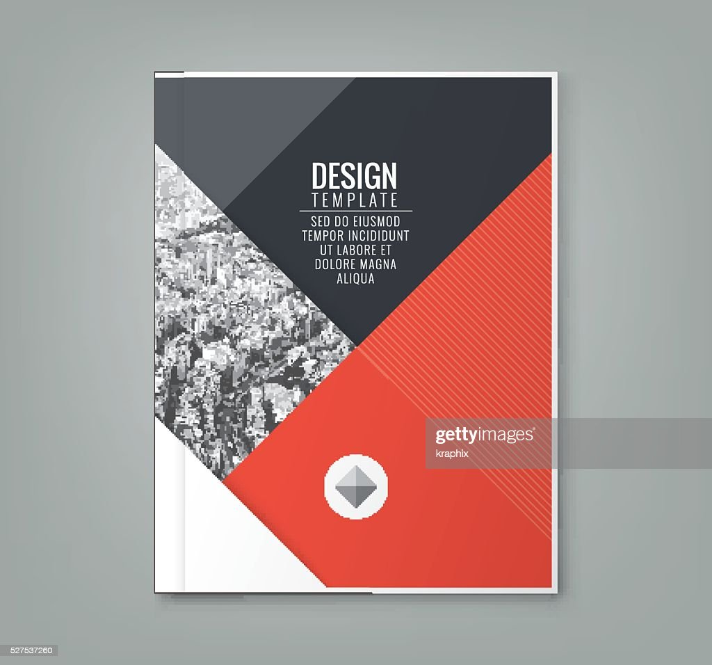 minimal red color design layout template background