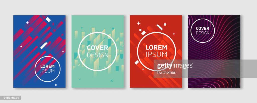 Minimal Vector covers design. Cool Vibrant colors flat illustrations. Future Poster template.