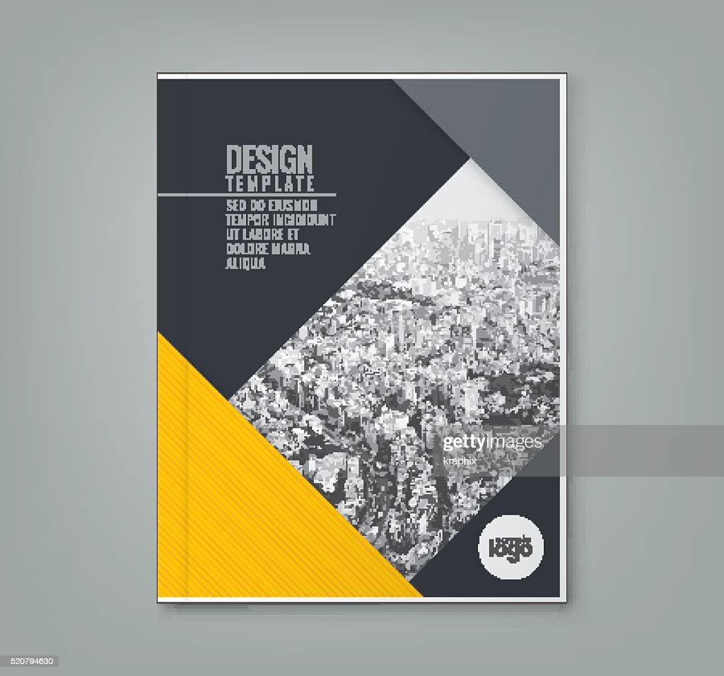 minimal yellow color design template background layout