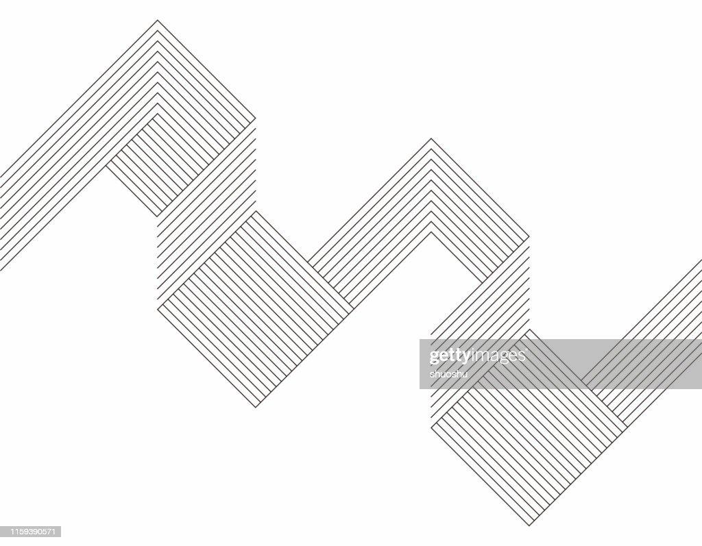 Minimalism geometric line pattern background : stock illustration
