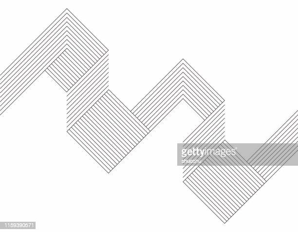 illustrazioni stock, clip art, cartoni animati e icone di tendenza di minimalism geometric line pattern background - forma geometrica