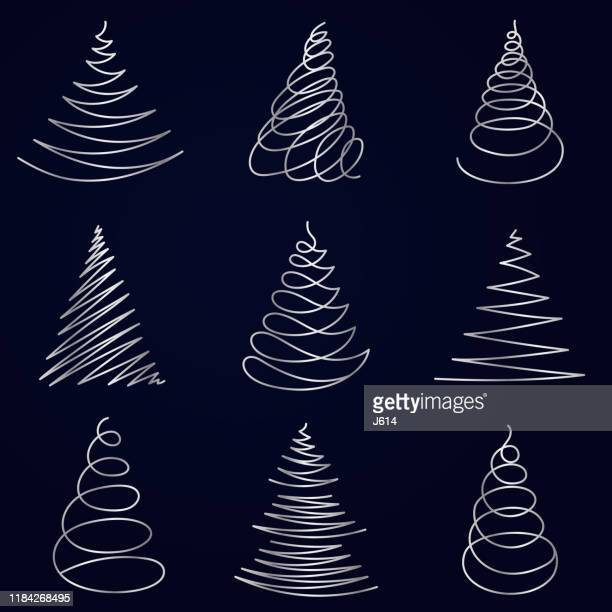 minimalist christmas tree - christianity stock illustrations