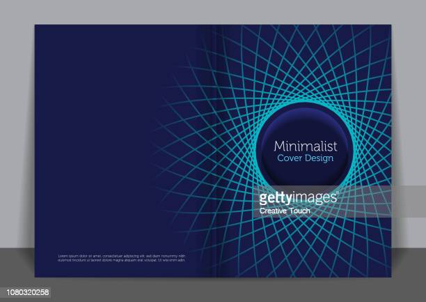 minimalist cover design - composition stock illustrations