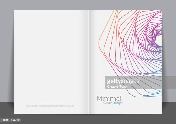 minimalist cover design - magazine cover stock illustrations