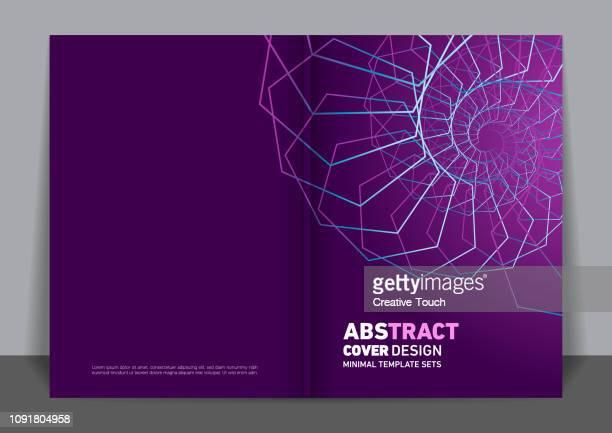 minimalist cover design - spiral stock illustrations