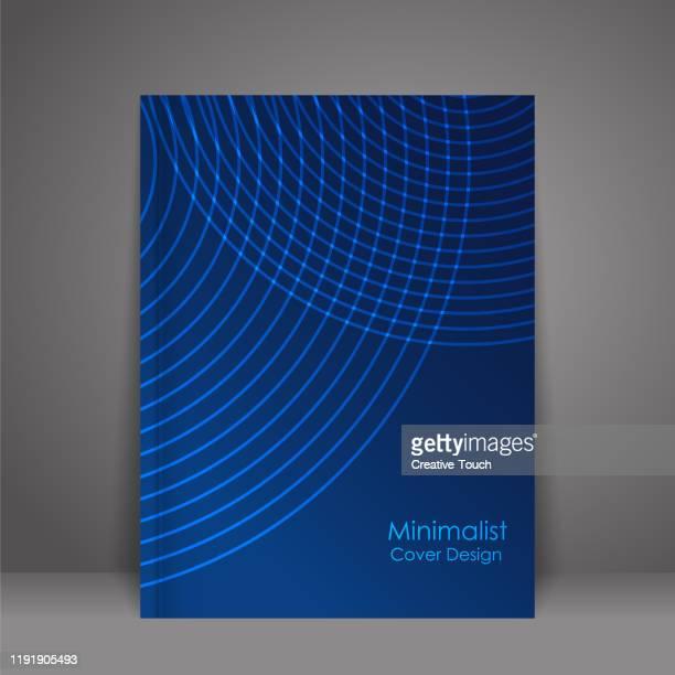 minimalistisches cover-design - zwischenbericht stock-grafiken, -clipart, -cartoons und -symbole