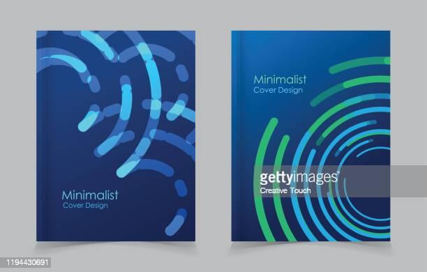 minimalistisches cover-design - bericht stock-grafiken, -clipart, -cartoons und -symbole