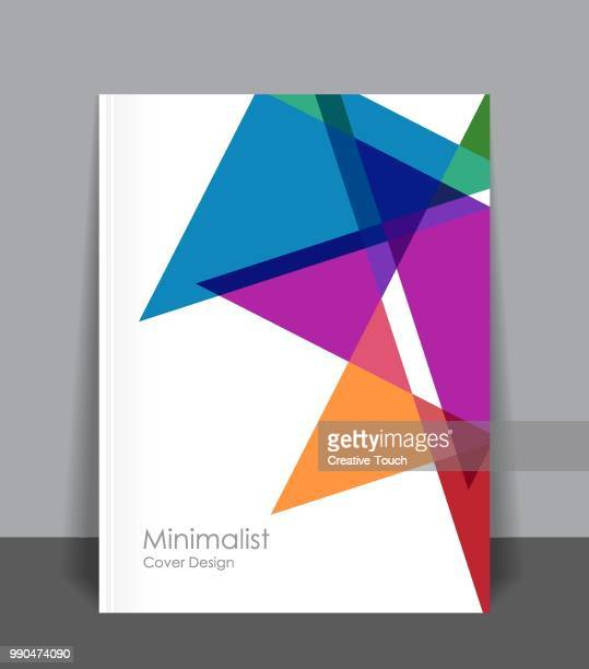 minimalist cover design - vertical stock illustrations