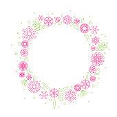 Minimalist floral background frame