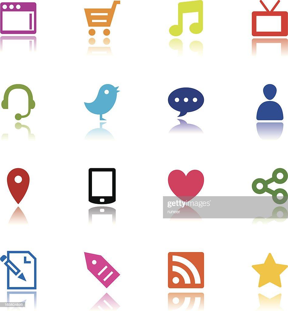 Minimalist Internet Media Icons