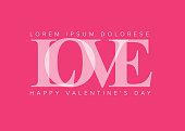 Minimalist love valentines card template