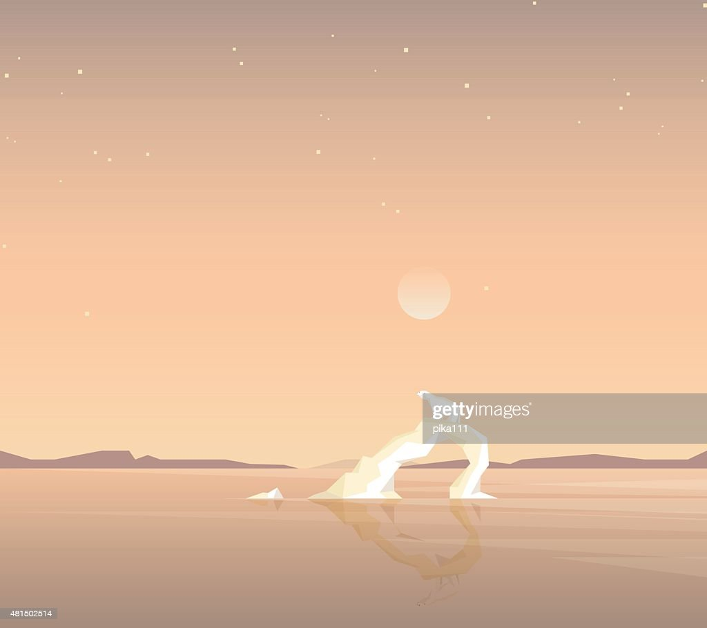 minimalistic contemporary global warming concept vector illustration