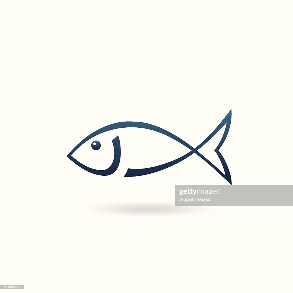 Minimalistic fish icon