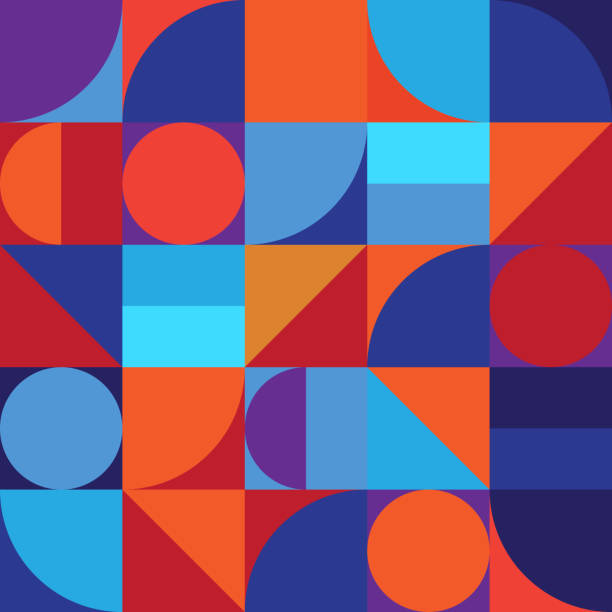 minimalistic geometry abstract vector pattern design - cool attitude stock illustrations