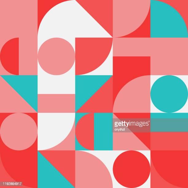 ilustrações, clipart, desenhos animados e ícones de design de padrão de vetor abstrato de geometria minimalista - geometria