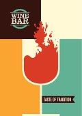 Minimalistic wine bar poster design.