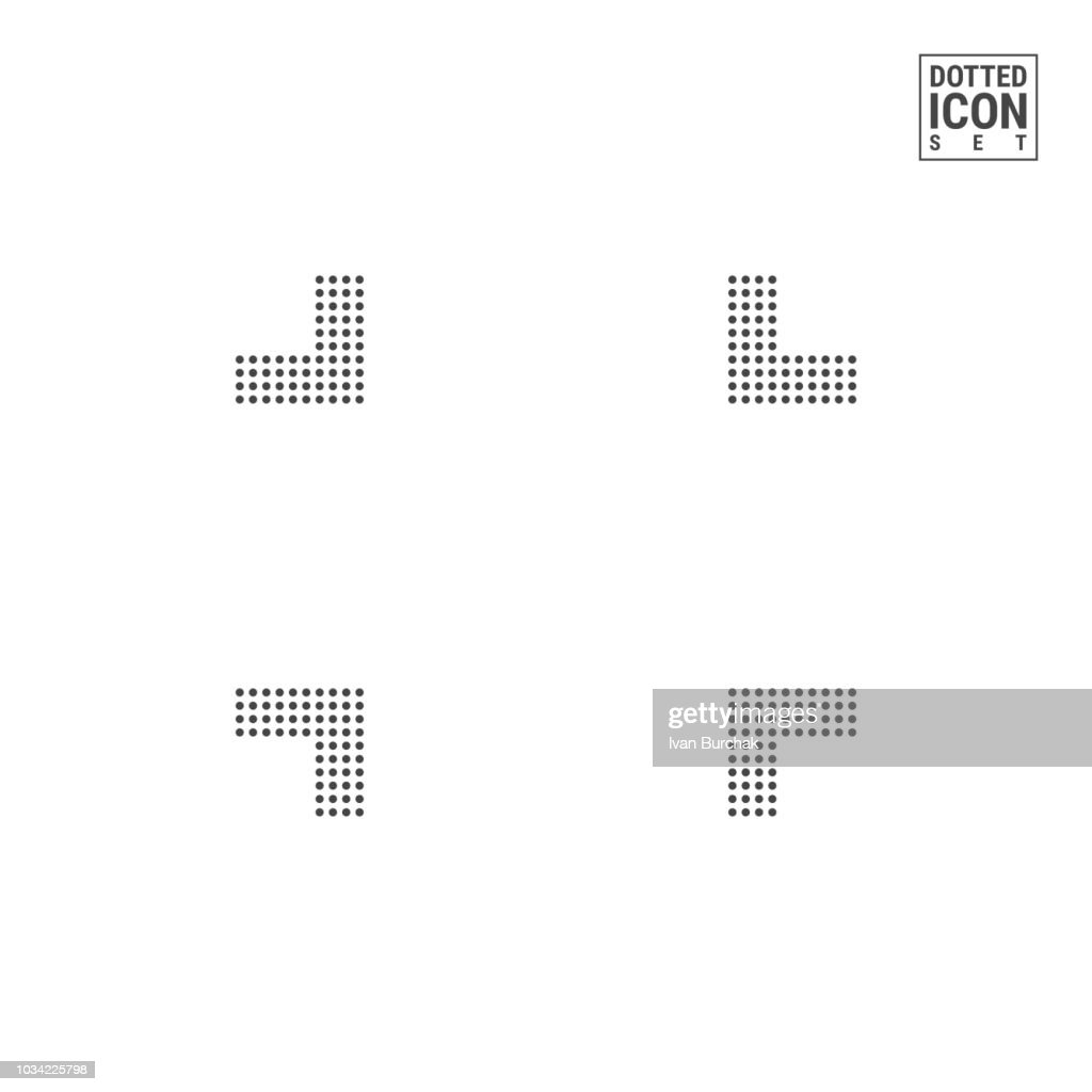 Minimize a Window Dot Pattern Icon. Shrink Dotted Icon Isolated on White Background. Vector Icon or Design Template