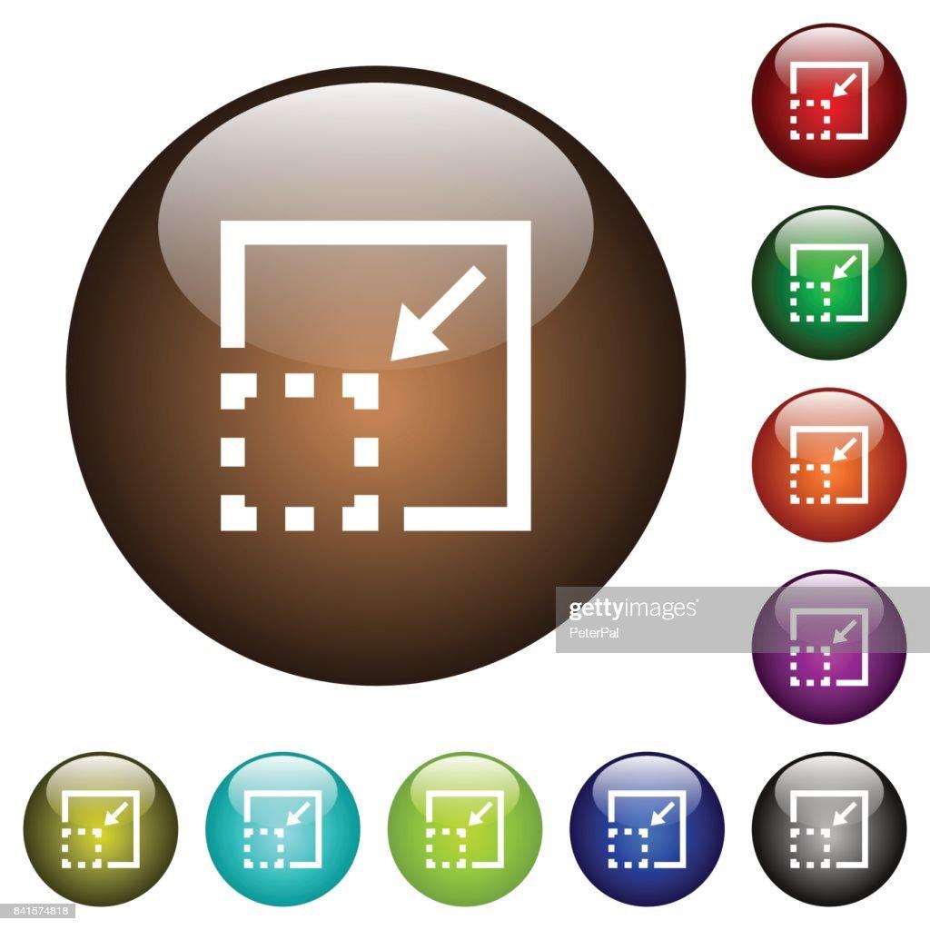 Minimize element color glass buttons