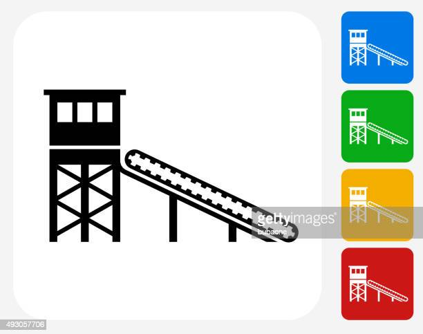 Mining Deposit Icon Flat Graphic Design