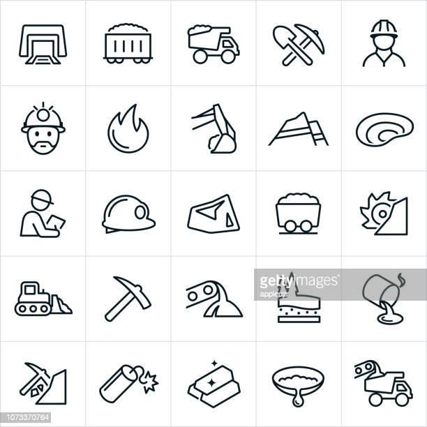 マイニング アイコン - 鉱業点のイラスト素材/クリップアート素材/マンガ素材/アイコン素材