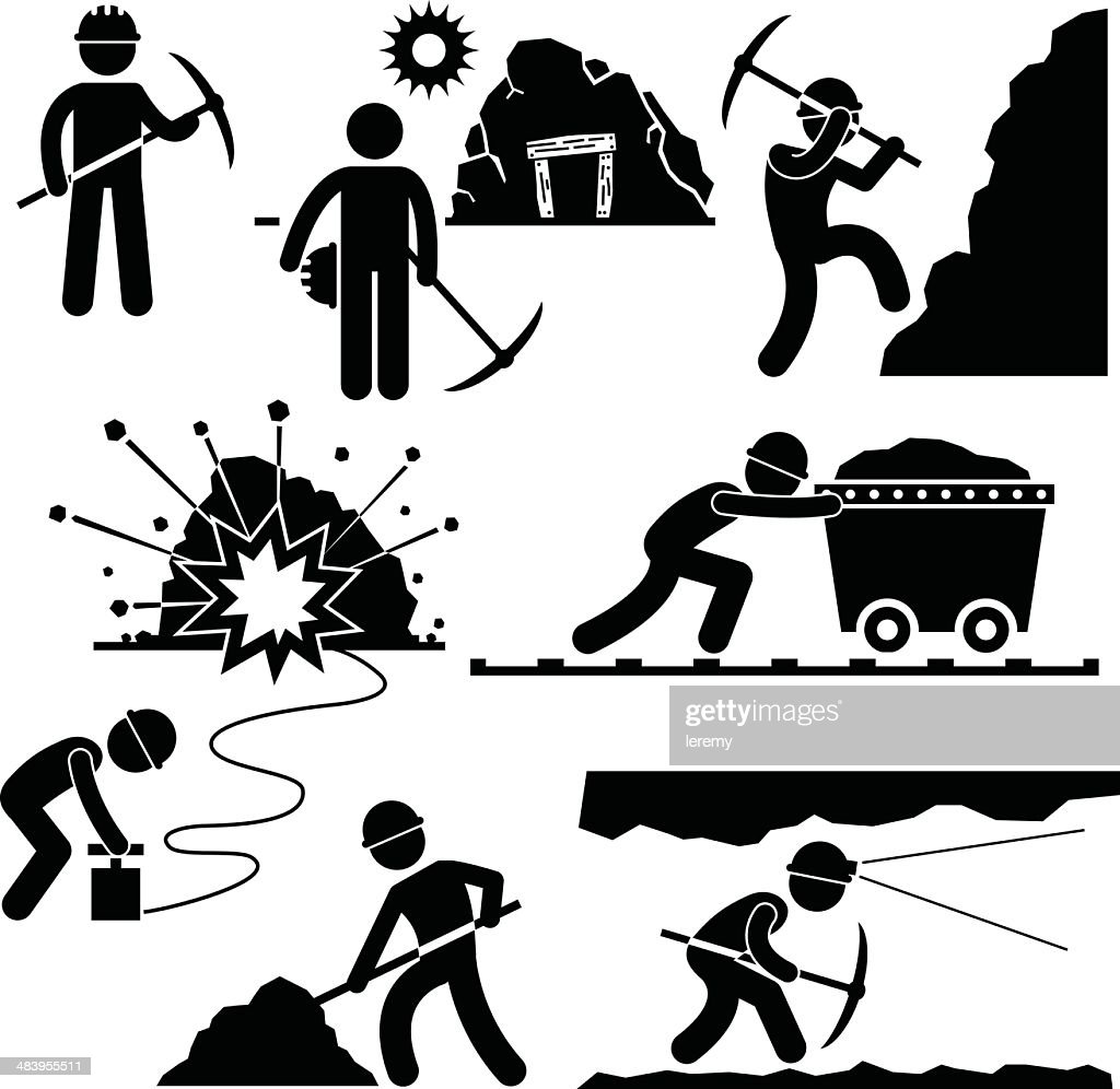 Mining Worker Miner Labor People Pictogram