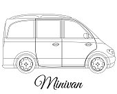 Minivan car body type outline