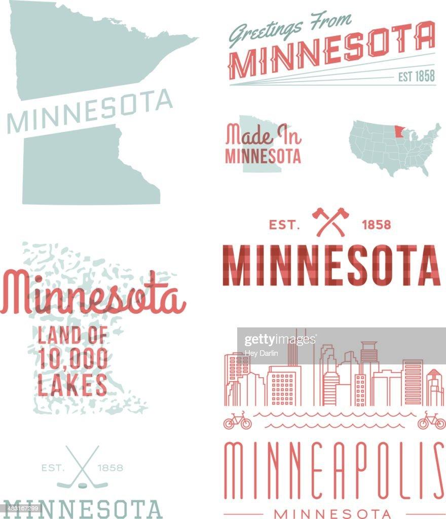 ミネソタタイポグラフィー : ストックイラストレーション