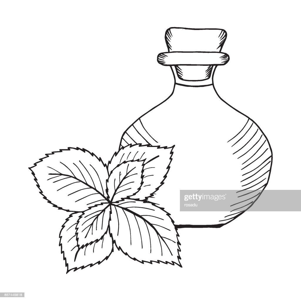Mint oil bottle