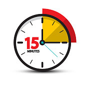 15 Minutes Clock Icon