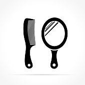 mirror and comb icons
