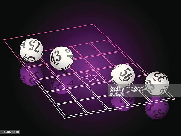 mirror bingo - bingo stock illustrations
