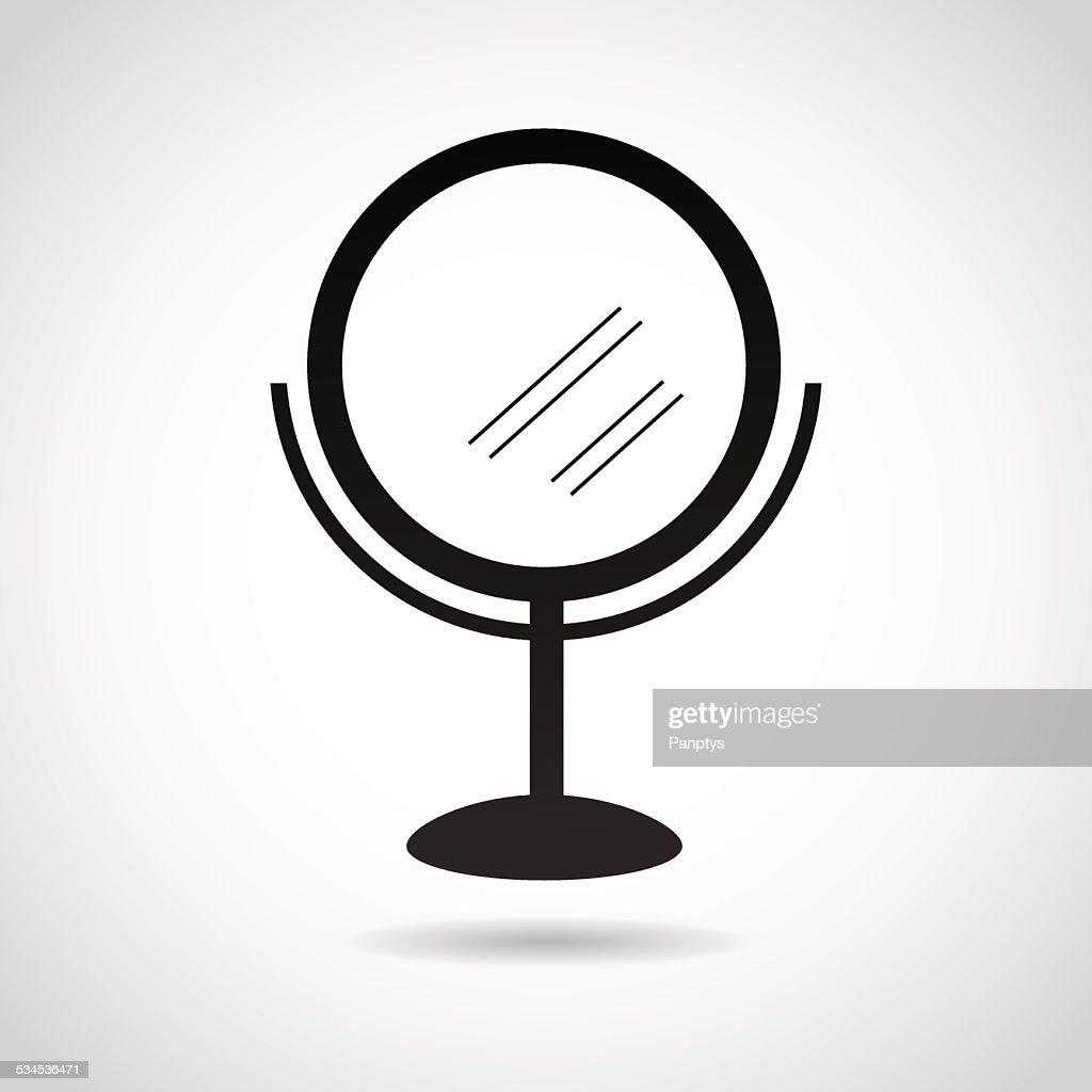 Mirror icon isolated on white background.
