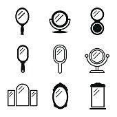 Mirror vector icons.
