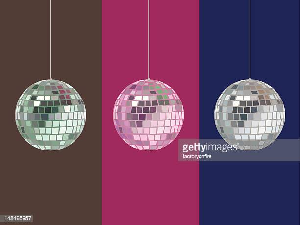 mirrorball vector with hue options - mirror ball stock illustrations