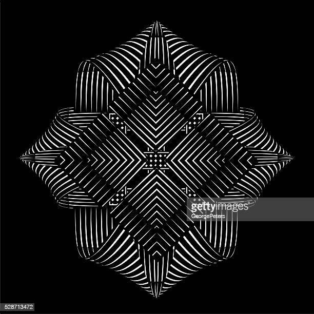 Spiegelmuster Vektor-element, Schwarzer Hintergrund